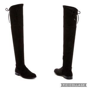 Dolce Vita Neely Black Suede OTK Boots Sz 8.5